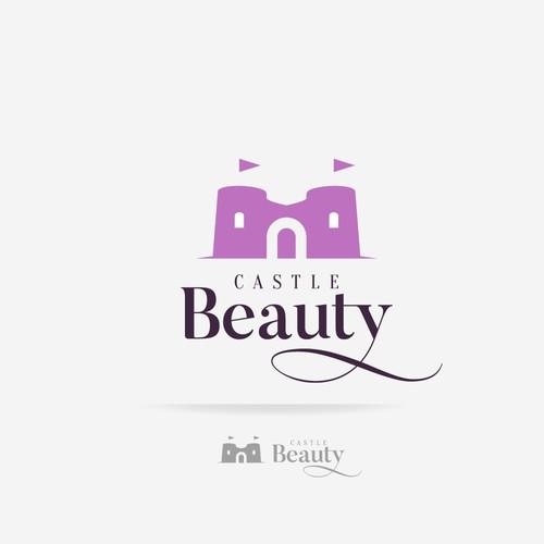 Eyelash logo with the title 'Castle Logo for a beauty salon'