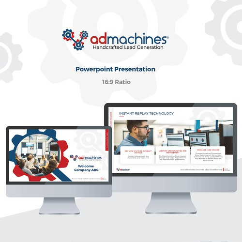 Technical design with the title 'admachines Presentation '