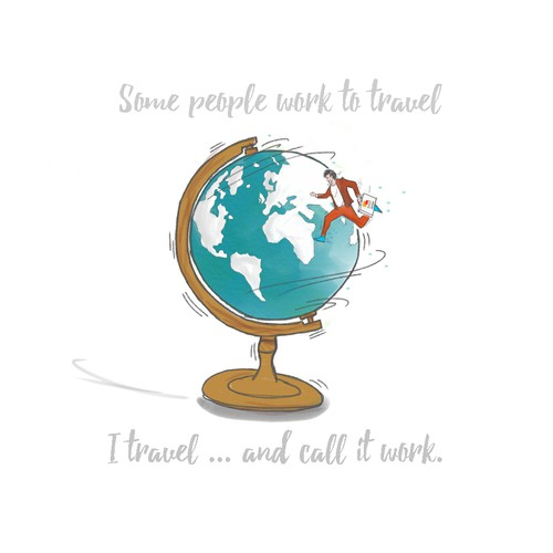 World map design with the title 'Travel agency tshirt'