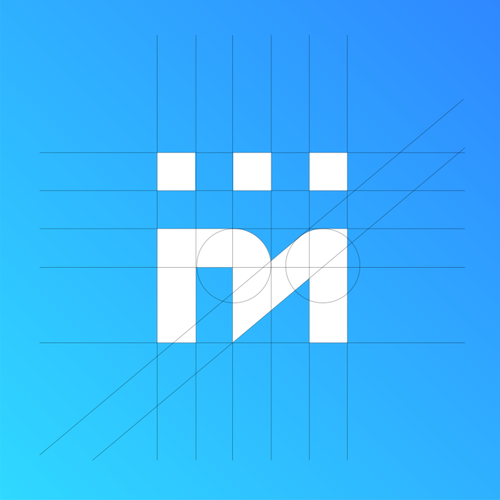 Messaging logo with the title 'Minimal logo concept for TextMagic'