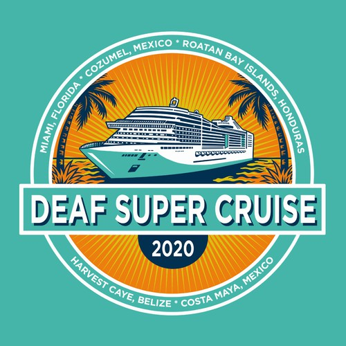Cruise design with the title 'Deaf Super Cruise 2020'