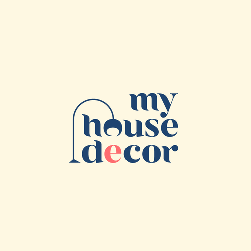 Home decor logo with the title 'Logo for My House Decor'