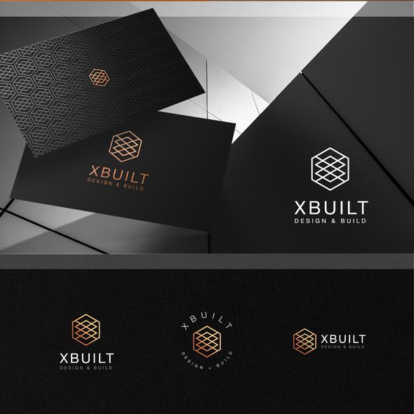 Architecture logo with the title 'XBUILT logo design'