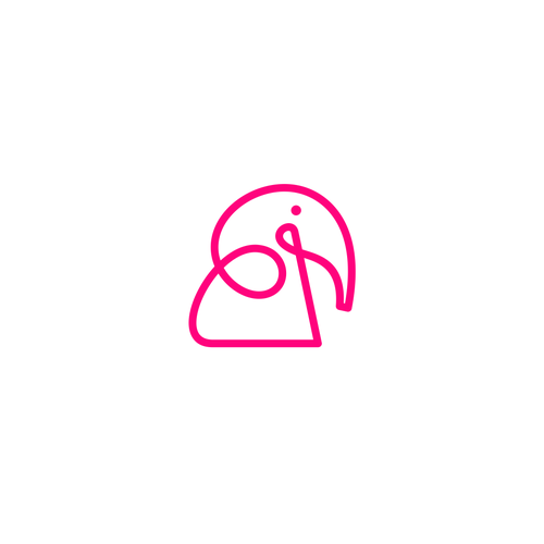 Elephant logo with the title 'pink elephant'
