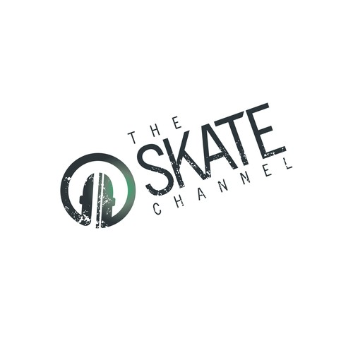 Skater logo with the title 'The Skate Channel'
