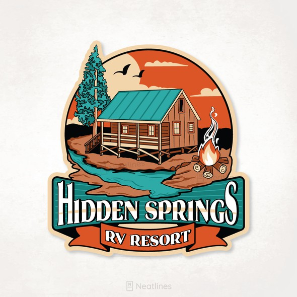 RV logo with the title 'Hidden Springs Tee '