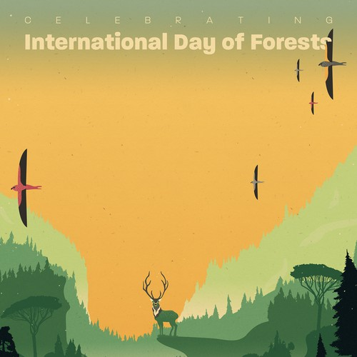Forest illustration with the title 'International Day of Forests'