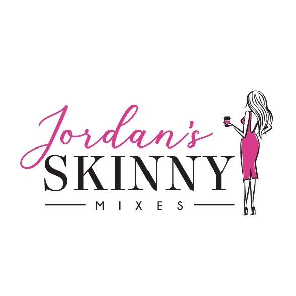 Slim logo with the title 'Modern Feminine Logo Revamp for Beverage Company'