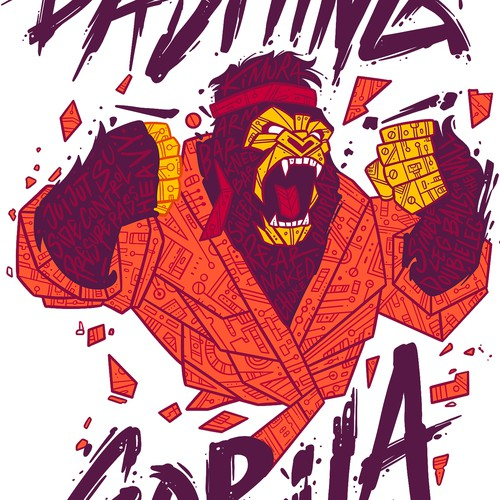 Beast design with the title 'Dashing Gorila'