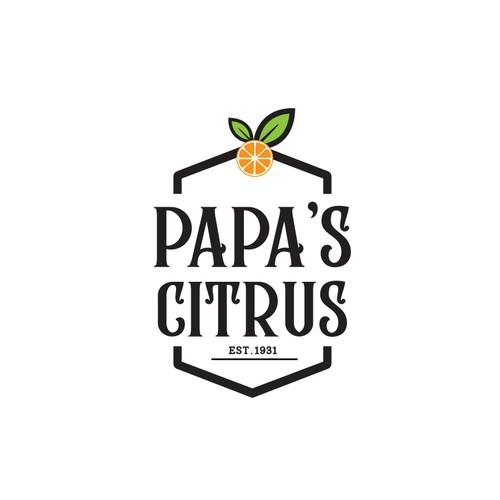 Citrus logo with the title 'PAPA'S CITRUS'