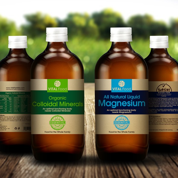 Vitality design with the title 'Family Organic Food Label'