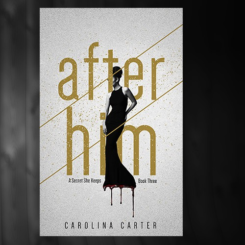 Luxury book cover with the title 'After Him'