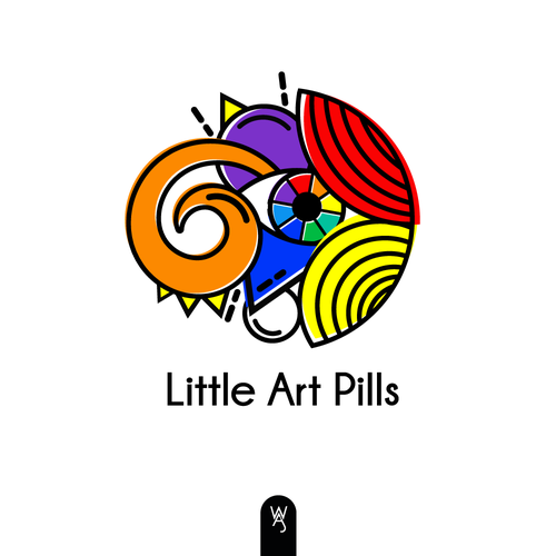 Colorful logo with the title 'Little Art Pills '