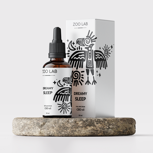 Dropper bottle packaging with the title 'Packaging proposto in un contest.'