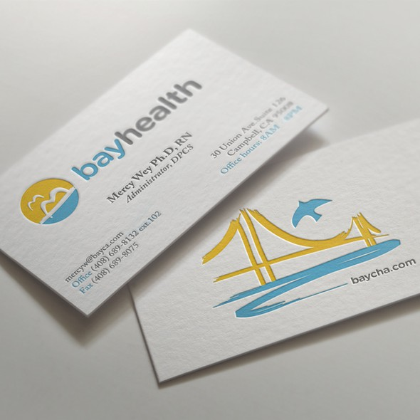 Pharmaceutical brand with the title 'Bayhealth Inc. Logo design'