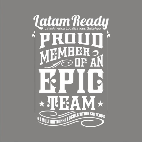 Simple t-shirt with the title 'LATAM READY'