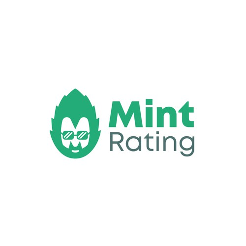 Rating design with the title 'Funny logo concept for crypto analytics website'