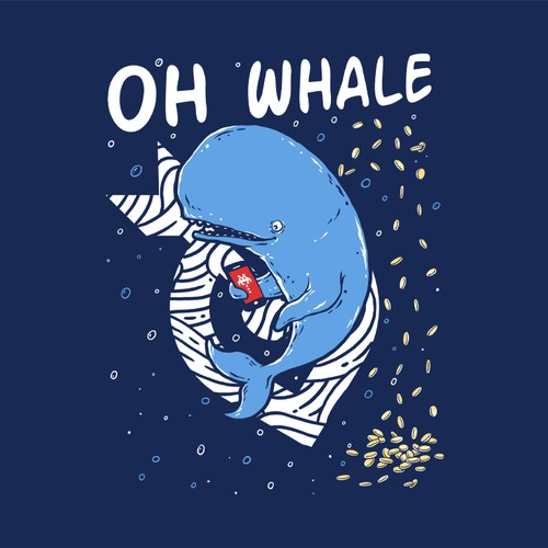 Gaming t-shirt with the title 'Oh Whale'