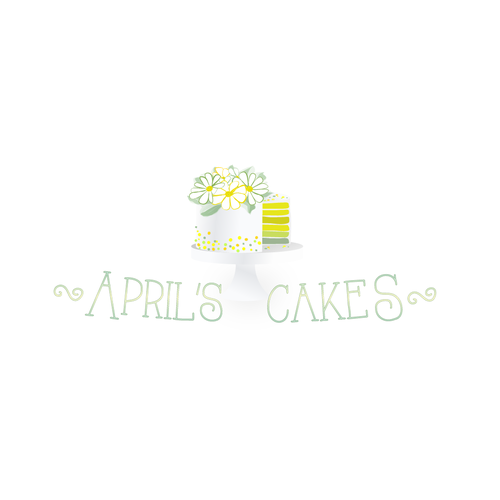 Doodle logo with the title 'April's Cakes'