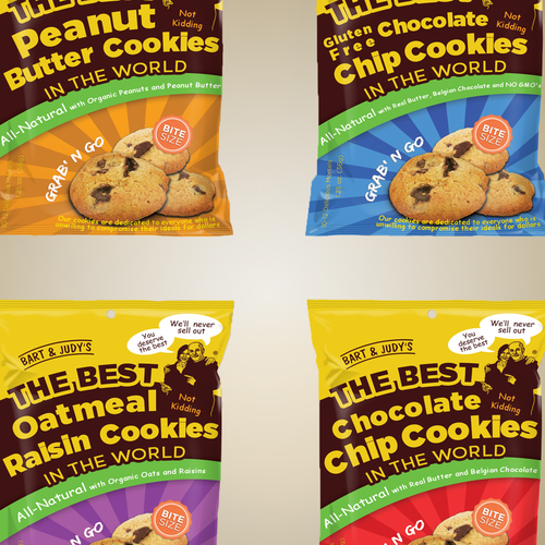 Natural label with the title 'Packaging for Chip Cookies.'