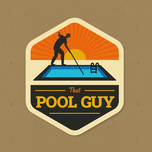 Guy design with the title 'That Pool Guy'