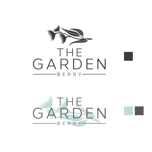 Restaurant brand with the title 'The Garden Berry'
