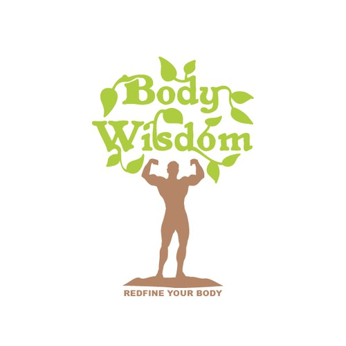 Physical logo with the title 'Body Wisdom | Redefine Your Body'