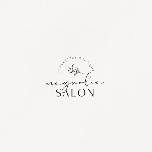 Beauty logo with the title 'Magnolia Salon'
