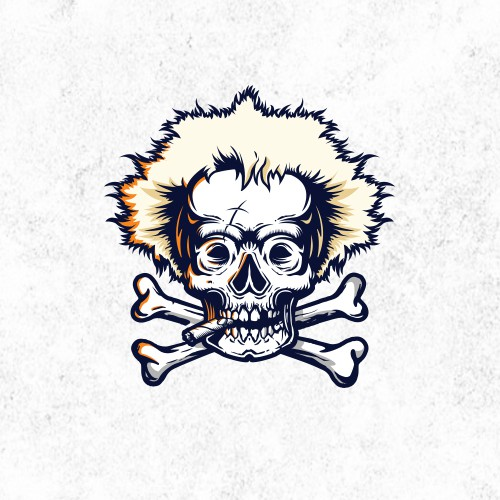 Hardcore logo with the title 'Rustic Jobu Pirate Skull'