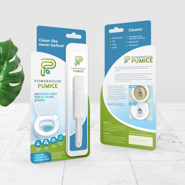 Container packaging with the title 'package and Logo design'