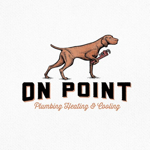 Engraving logo with the title 'On Point'