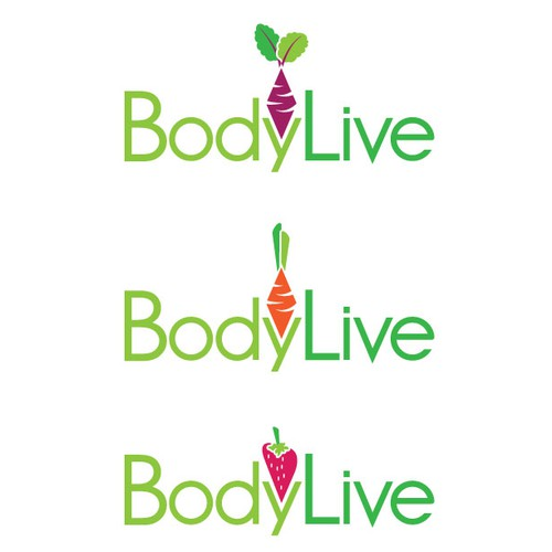 Strawberry logo with the title 'BodyLive'