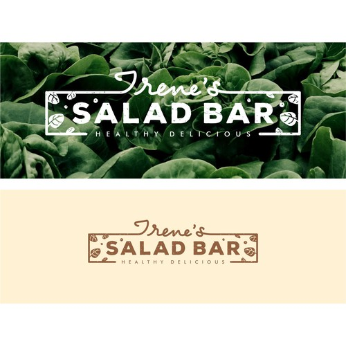 Salad logo with the title 'Logo for salad bar'