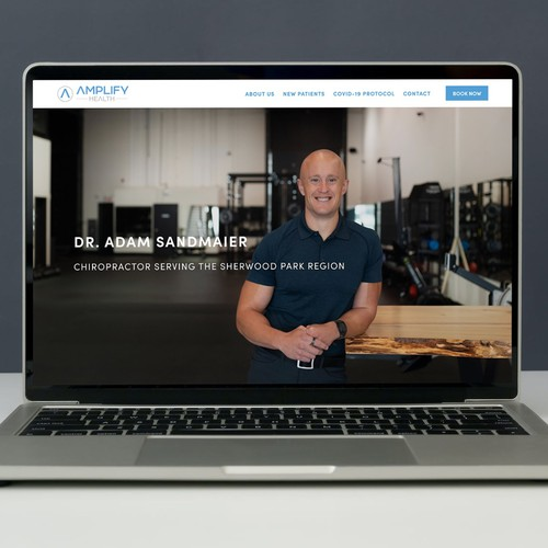 Small business design with the title 'Amplify Health'