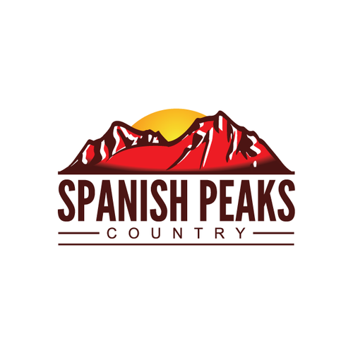 Peak logo with the title 'logo design for Spanish Peaks Country'