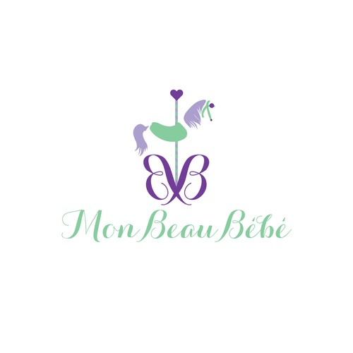 Carousel design with the title 'Logo concept for Mon Beau Bébé, a children's boutique'