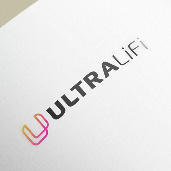 Optical design with the title 'UltraLiFi brand '