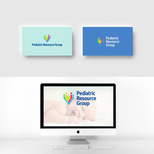 Caring logo with the title 'Fun, professional logo for a medical resource company'