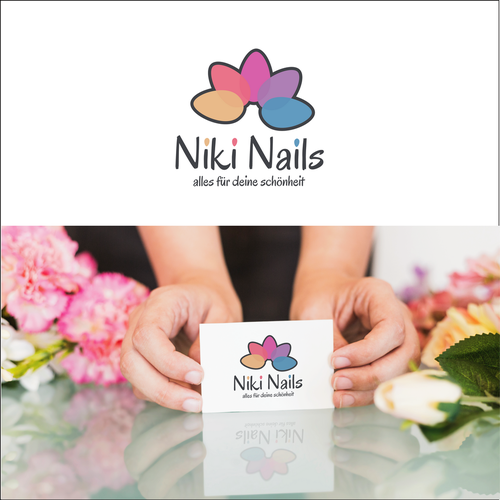 Nail logo with the title 'Niki-Nails'