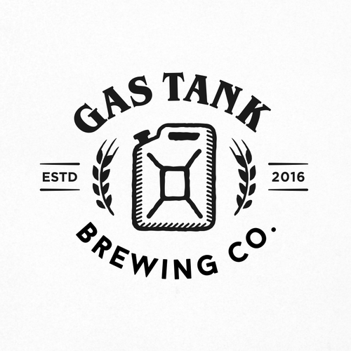 Utility logo with the title 'Logo for Gas Tank Brewery.'