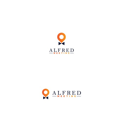 French cafe logo with the title 'ALFRED MEETING'