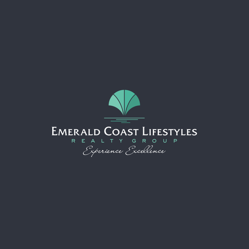 Green brand with the title 'Emerald Coast Lifestyles logo'