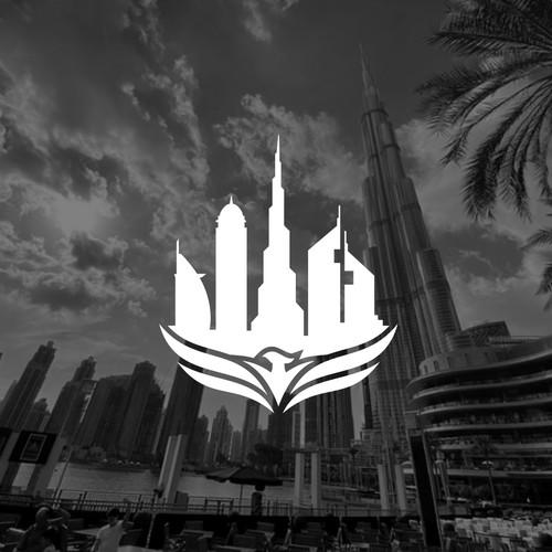 Dubai logo with the title 'Real Estate Dubai logo'