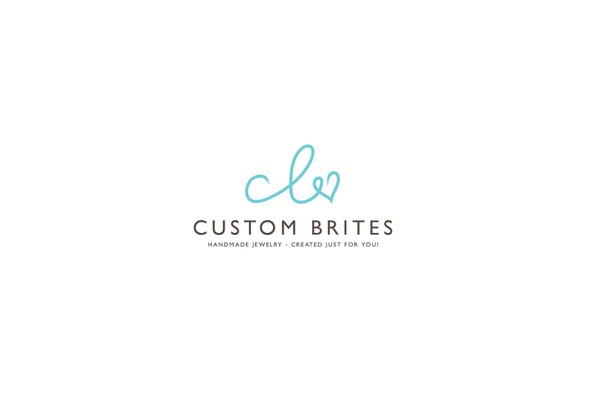 Lovely logo with the title 'Custom Brites Online Jewellery Shop'