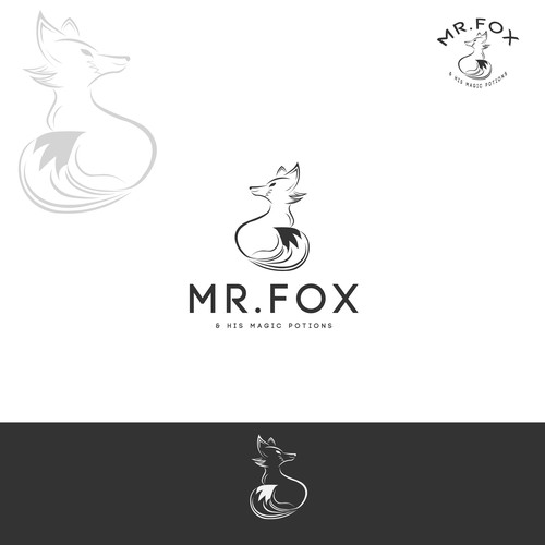 Mr. logo with the title 'LOGO DESIGN FOR MR FOX'