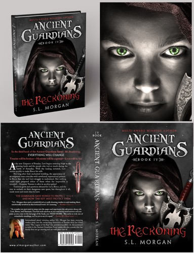 Guardian design with the title 'Photoshop creation for a book cover'
