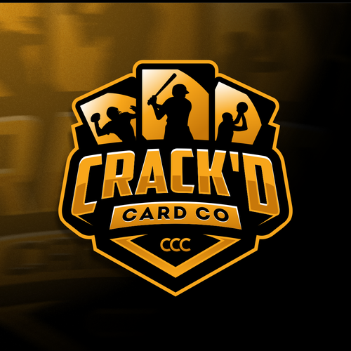 Baseball logo with the title 'Crack'd Card Company'