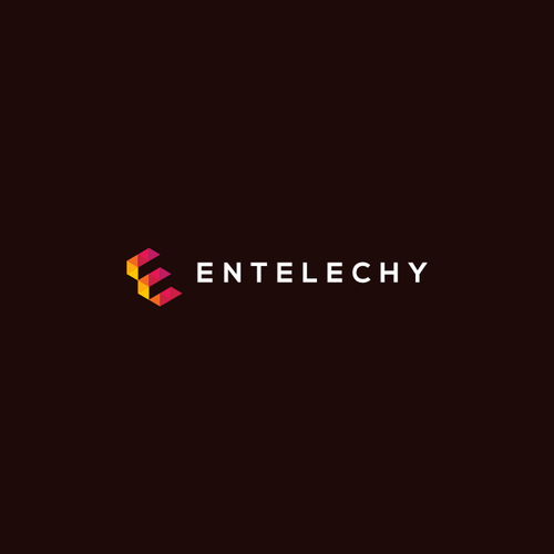 Triangle logo with the title 'Colorful logo for ENTELECHY'
