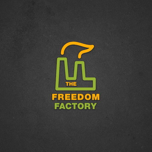 Freedom logo with the title 'New logo wanted for The Freedom Factory'