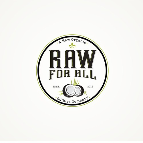 Coconut logo with the title 'Raw for all'